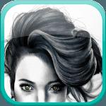 Hair fashion step by step icon