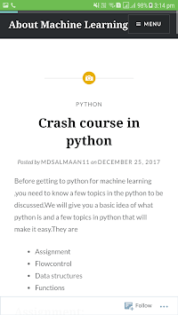 About Machine Learning pc screenshot 1